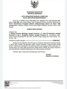 Surat MK